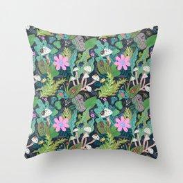 Beetle Pattern Throw Pillow