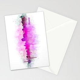 Rome city skyline HQ v05 pink Stationery Cards