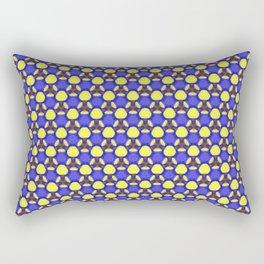 Blue labyrinth Rectangular Pillow
