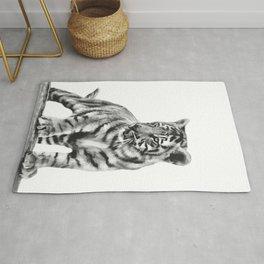 Baby tiger cub pose Rug