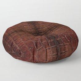 Dark brown snake leather cloth imitation Floor Pillow