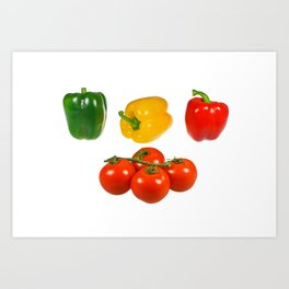 Vegetables with white background Art Print