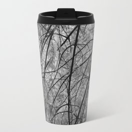 Leaves (black and white) Travel Mug