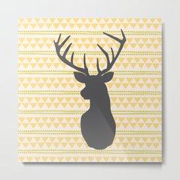 Deer on triangle wallpaper Metal Print