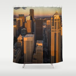Downtown Seattle Sunset Shower Curtain