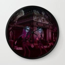 Ghoulish Sisters Wall Clock