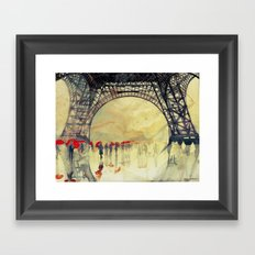 Winter in Paris Framed Art Print
