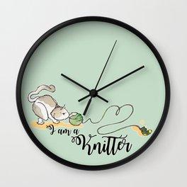 I am a knitter Wall Clock