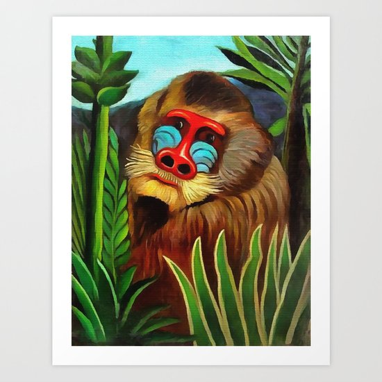 Henri Rousseau Mandrill In The Jungle by artgallery