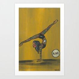 Zoraya, The Tattooed Lady Art Print