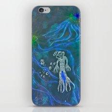 Jellyfish Diver iPhone & iPod Skin