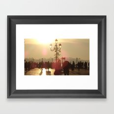Venice at Sunrise and Costumes Framed Art Print