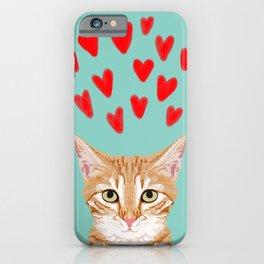 Mackenzie - Orange Tabby Cute Valentines Day Kitten Girly Retro Cat Art cell phone iPhone Case