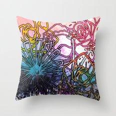 Flower Gurl Throw Pillow