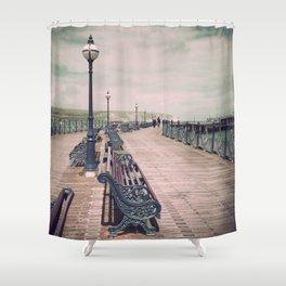 Swanage Pier Antique Shower Curtain