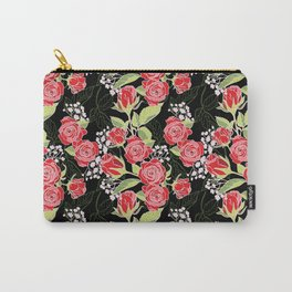 Red Rose Modern Pattern Design Carry-All Pouch