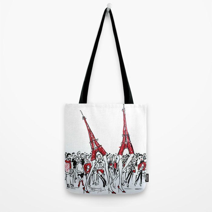 A Paris Runway Fashion Illustration Tote Bag