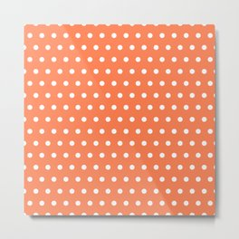Small dots on coral Metal Print