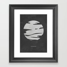 Twilight - minimal poster Framed Art Print