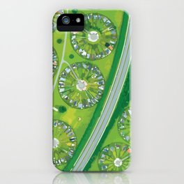 Green Garden City in Denmark iPhone Case