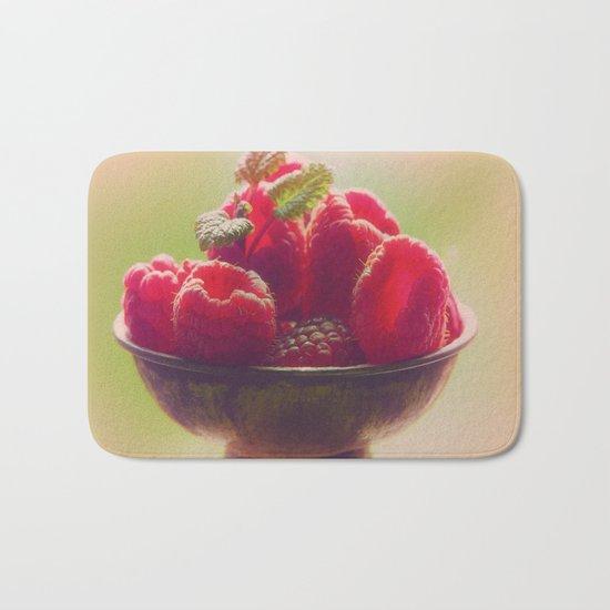 Raspberries fruit enjoyment Bath Mat