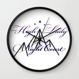 HIGH LADY OF THE NIGHT COURT inspired Wall Clock