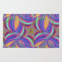 psychedelic Area & Throw Rugs featuring Psychedelic by David Zydd