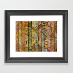 Around the World in Thirteen Maps Framed Art Print