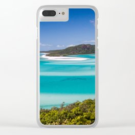 Blue Paradise Whitehaven Beach the Whitsunday Islands Clear iPhone Case
