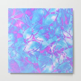 Grunge Art Floral Abstract G171 Metal Print