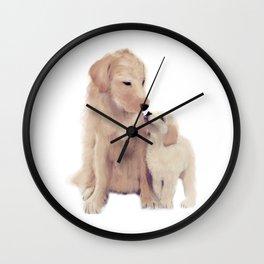 Golden retrievers Wall Clock