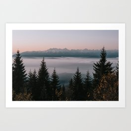 Faraway Mountains - Landscape and Nature Photography Art Print