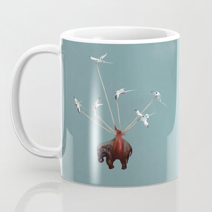 Baby Elephant Flies Coffee Mug