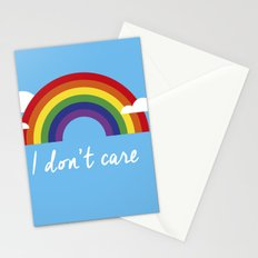 I dont care Stationery Cards