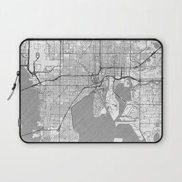 Tampa Map Line Laptop Sleeve