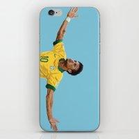 neymar iPhone & iPod Skins featuring Neymar by Aaron Cushley