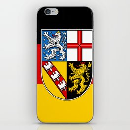 Flag of  Saarland -Sarre iPhone Skin