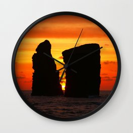 Islets at sunset Wall Clock