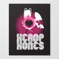 headphones Canvas Prints featuring ♥ HEADPHONES by THE SILENT P // Matthew Pfahlert