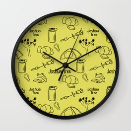Yellow Joshua Tree Print Wall Clock