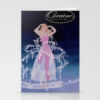 cocaine Stationery Cards featuring Cinderella Cocaine Attitude by Trash Apparel