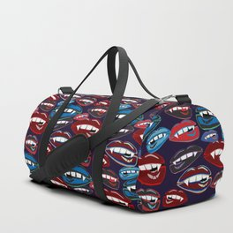 Funky Vampire Lips Duffle Bag