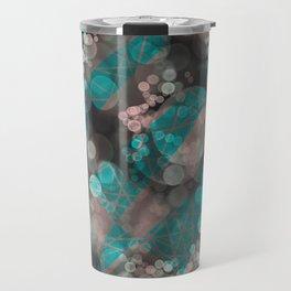 Bubblicious - Teal Pink & Taupe Palette Travel Mug