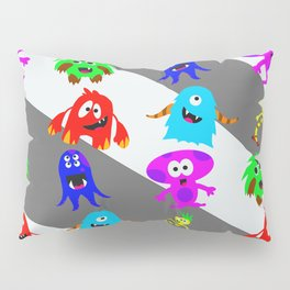 Little Monsters Collage Pillow Sham