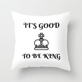 Good King Throw Pillow