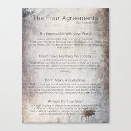 The Four Agreements 7 Canvas Print
