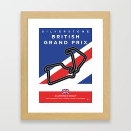 My F1 SILVERSTONE Race Track Minimal Poster Framed Art Print
