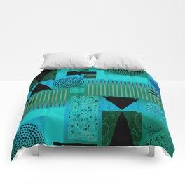 GEO-1 | aqua blue Comforters