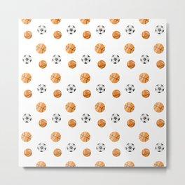 Ball sport pattern Metal Print