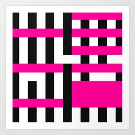 Licorice Bytes, No.18 in Black and Pink Art Print